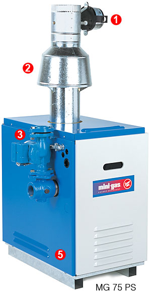 Mini Gas Boiler Vent Damper